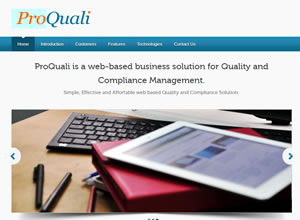 Pro-Quali-A web based Quality and Compliance Solution